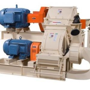 dual stage fine grinding hammer mill for blocky wood waste