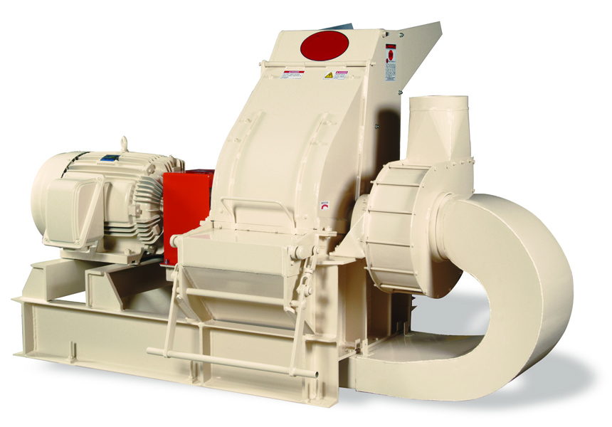medium production finish grinding hammer mill with built in air assist