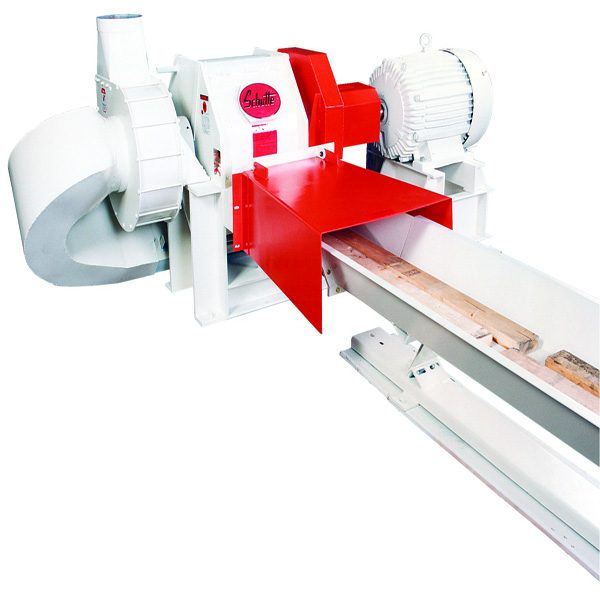 Schutte-Buffalo HZF Series horizontal in-feed wood scrap grinding hammer mill