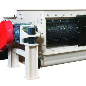 Open hopper ram fed MP Series single shaft shredder