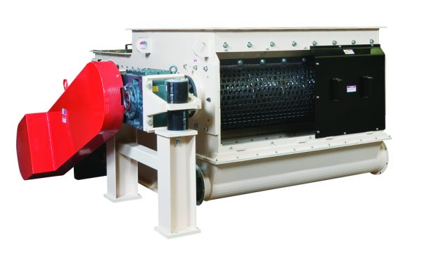 Open hopper ram fed MP Series single shaft Industrial shredders